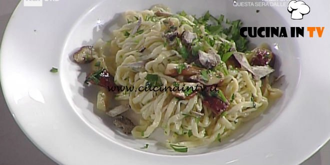 La Prova del Cuoco - ricetta Tagliolini fini fini con porcini e tartufo