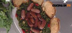 La Prova del Cuoco - Salsicce e friarielli ricetta Anna Serpe