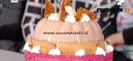 La Prova del Cuoco - Torta morbida con panna cotta alla nocciola e croccantino ricetta Ambra Romani
