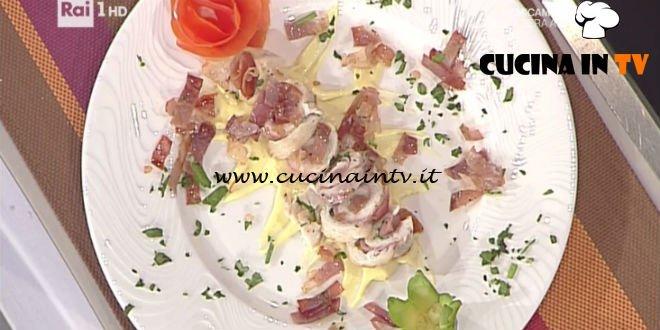 La Prova del Cuoco - ricetta Filetto di trota in crosta di prosciutto di Norcia e zafferano