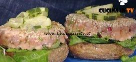 La Prova del Cuoco - Santa Claus Burger di salmone ricetta Francesco Fichera