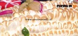 La Prova del Cuoco - Tronchetto al cioccolato bianco e frutta esotica ricetta Ambra Romani