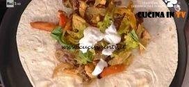 La Prova del Cuoco - ricetta Fajitas di pollo e manzo con salsa piccante