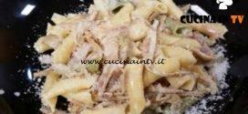 Cotto e mangiato - Maccheroni al pettine panna e carciofi ricetta Tessa Gelisio