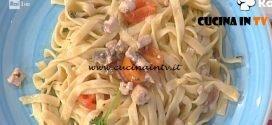 La Prova del Cuoco - ricetta Tagliatelline con pesce spada e cipolla di Tropea