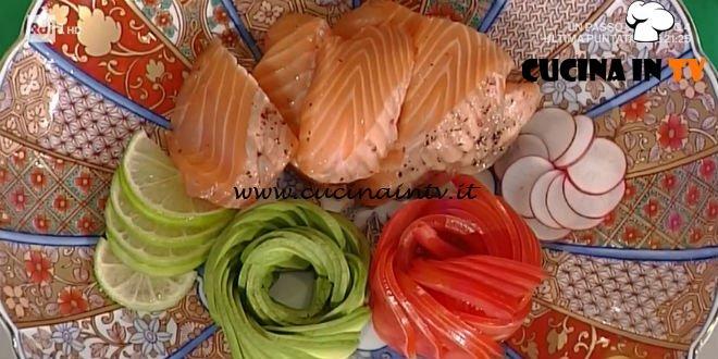 La Prova del Cuoco - Aburi di salmone al pepe rosa ricetta Hirohiko Shoda