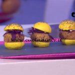 Detto Fatto - Mini burger vegetariani ricetta Sebastiano Rovida