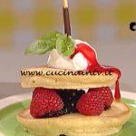 La Prova del Cuoco - Pancakes espressi con lamponi e gelato ricetta Sergio Barzetti