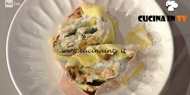 La Prova del Cuoco - Rosette di sfoglia con mortadella e lattuga ricetta Alessandra Spisni