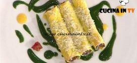 La Prova del Cuoco - Cannelloni di stinco di agnello con salsa ortiche ricetta Marco Bottega