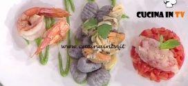 La Prova del Cuoco - Gnocchi di patate viola con frutti di mare e gamberi ricetta Gian Piero Fava