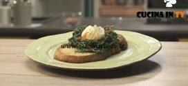Pronto e postato - ricetta Nidi di agretti con uova pochette di Benedetta Parodi