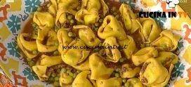 La Prova del Cuoco - Tortelloni con ragù di piselli ricetta Alessandra Spisni