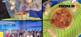 La Prova del Cuoco - Crema di melone con scampi e prosciutto croccante ricetta Andrea Mainardi