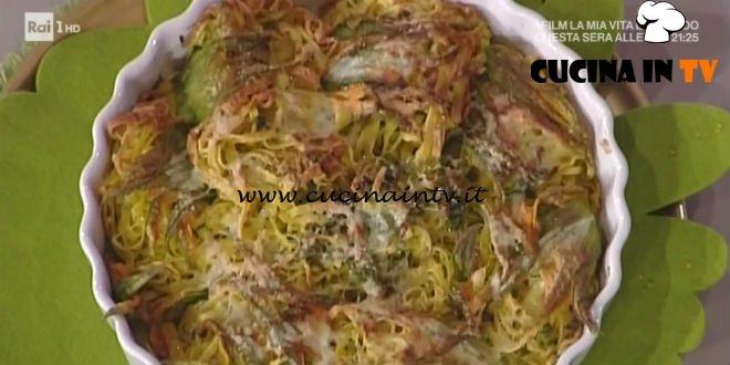 La Prova del Cuoco - Fiori di zucca ripieni di tagliolini ricetta Alessandra Spisni