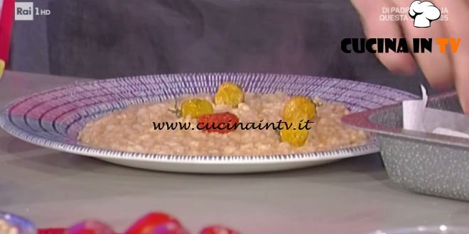La Prova del Cuoco - Risotto ai tre pomodori ricetta Sergio Barzetti