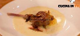 Masterchef Italia 6 - ricetta Agnello rosolato su salsa di tomino con patate saltate e bucce croccanti di Giulia Brandi