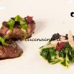 Masterchef Italia 6 - ricetta Filetto di cervo e saba di Michele Ghedini