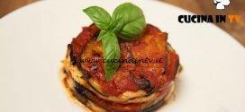 Masterchef Italia 6 - ricetta Parmigiana su pesto di basilico di Michele Pirozzi