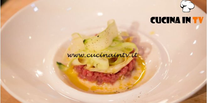 Masterchef Italia 6 - ricetta Tartare di manzo al profumo di cedro e insalata di cetriolo di Loredana Martori