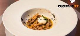 Masterchef Italia 6 - ricetta Zuppetta piccante di borlotti trippa e aglio nero di Loredana Martori