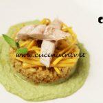 Masterchef Italia 6 - ricetta Fregola con sgombro a vapore su letto di crema di fave di Daniele Cui