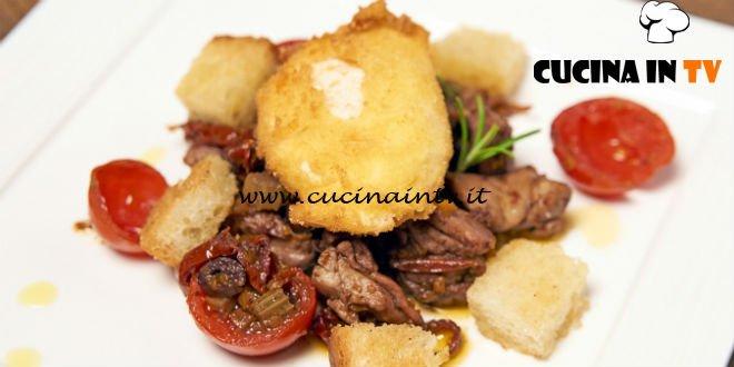 Masterchef Italia 6 - ricetta Sovracoscia di pollo con uovo in camicia fritto e crostini di pane di Michele Pirozzi