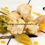 Masterchef Italia 6 - ricetta Spiedo di riccioli di sogliola croccanti con giardiniera di verdure e olio di capperi e pomodori di Bruno Barbieri