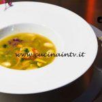 Masterchef Italia 6 - ricetta Acqua di plancton con scampi e gamberi rossi e verdure croccanti saltate al chorizo di Loredana Martori