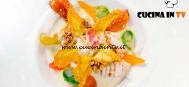Masterchef Italia 6 - ricetta Ali di razza confit su crema di pastinaca con fiore croccante di Margherita Russo
