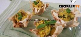 Cotto e mangiato - Cestini di orzo zucchine noci e tonnetto ricetta Tessa Gelisio