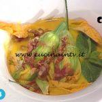 La Prova del Cuoco - Fiori di zucca farciti con zuppa di melone e guanciale croccante ricetta Gian Piero Fava