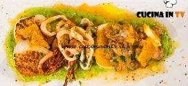 Masterchef Italia 6 - ricetta Insalata di mare con frutta di Gabriele Gatti