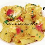 Masterchef Italia 6 - ricetta Mezze maniche con quibebe di zucca mazzancolle e salsa di mirtilli di Michele Pirozzi