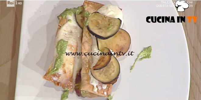 La Prova del Cuoco - Millefoglie di pasta fillo con melanzane e fichi ricetta Ambra Romani