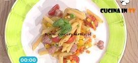 La Prova del Cuoco - Penne multicolore con polpettine di luganiga ricetta Roberto Valbuzzi