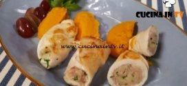 Cotto e mangiato - Rollè di pollo all'uva e purè di zucca ricetta Tessa Gelisio