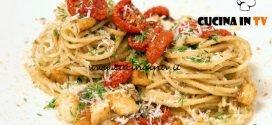Masterchef Italia 6 - ricetta Spaghetti con acciughe capperi e pane raffermo di Gabriele Gatti