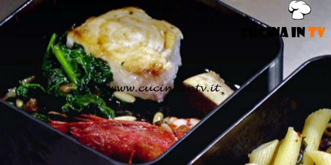 Masterchef 6 | Trancio di pesce spada con gamberi e spinaci ricetta Margherita Russo