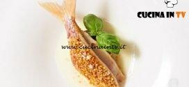 Masterchef Italia 6 - ricetta Triglia con melanzana e guazzetto di provola affumicata di Antonino Cannavacciuolo