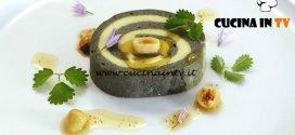 Bake Off Italia 5 - ricetta Charlotte di patate al carbone con mousse di spigola e burro nocciola di Mauro Colagreco