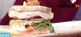 La Prova del Cuoco - Club sandwich al salmone ricetta Ambra Romani