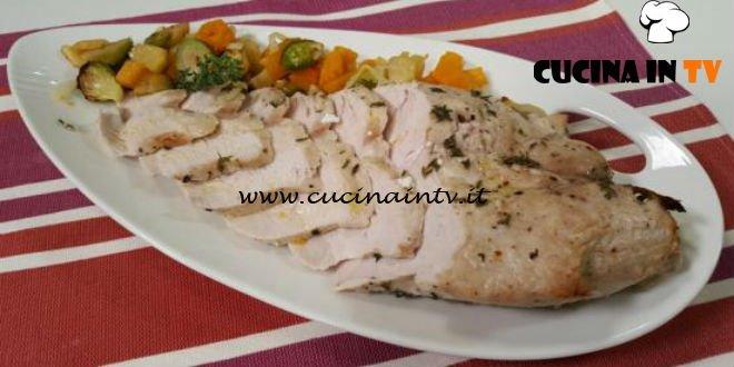 Cotto e mangiato - Fesa di tacchino arrosto con verdure ricetta Tessa Gelisio