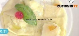 La Prova del Cuoco - Ravioli di ricotta con crema di pere e mostarda ricetta Cesare Marretti