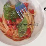 La Prova del Cuoco - Spaghetti al pomodoro in due consistenze ricetta Valerio Braschi