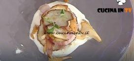 La Prova del Cuoco - Torretta di funghi porcini e speck con crema al taleggio ricetta Roberto Valbuzzi