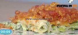 La Prova del Cuoco - Cannelloni al sugo con salsiccia e cima di rapa ricetta Ambra Romani