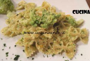 Cotto e Mangiato | Farfalle con broccolo romano e pesto di pistacchi ricetta Tessa Gelisio