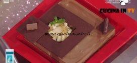 La Prova del Cuoco - Mattonella di cioccolato e gianduia con pere ricetta Guido Castagna