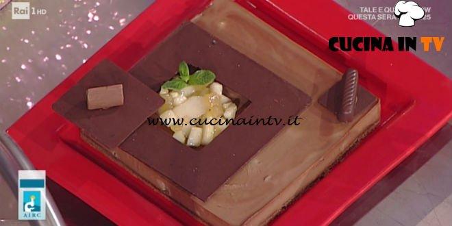 Prova del Cuoco | Mattonella di cioccolato e gianduia con pere ricetta Castagna
